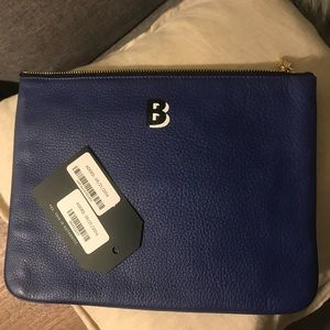 NWT Rebecca Minkoff Monogram Leather Pouch
